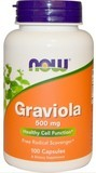 Graviola 500mg -100kpl, Immune Support, Positive Mood State.  AllergiaALE -15%
