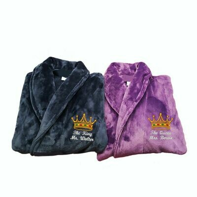 King & Queen Robes Customizable Set 2 Robes Bride and Groom Wedding Gift