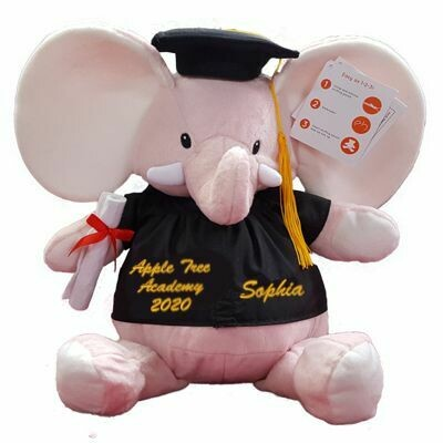 Graduation Plush Elephant Personalized with Graduates name 16 inch