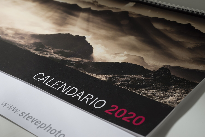 Calendario 2020 - formato panoramico 60x20cm