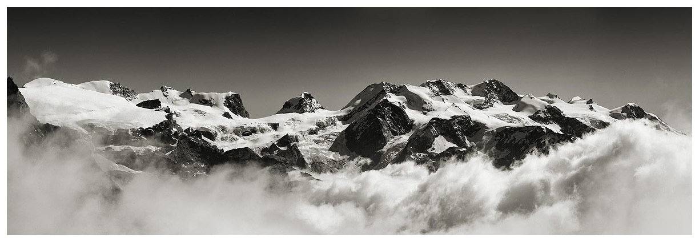 Monte Rosa fra le nuvole