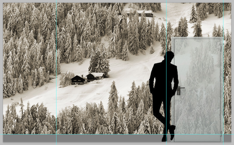 Chalet immersi nella neve