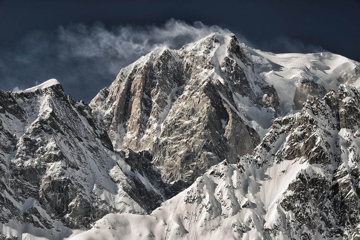 Il Re delle Alpi - Monte Bianco - Black&Blue