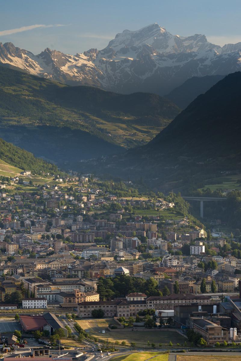 Aosta e il Grand Combin