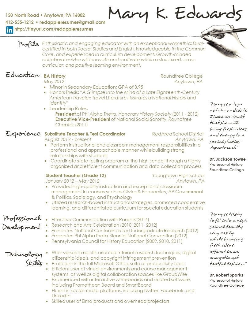 Handwritten Resume For Teachers 28 Images Ways To Your Resume