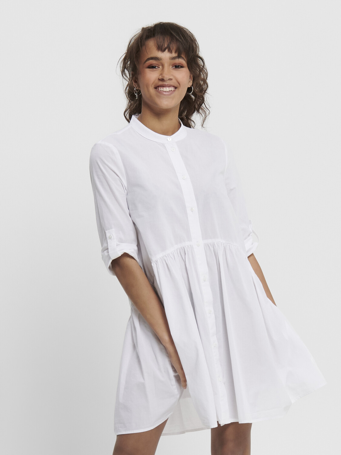 ONLCHICAGO 2/4 SLEEVE DNM DRESS WHITE