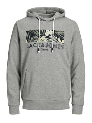 JORTROPIC SWEAT HOOD LIGHT GREY MELANGE