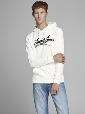JACK&JONES JORFLEXX SWEAT HOOD WHITE