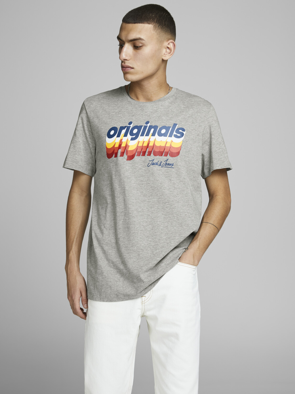 JORVENTURE TEE SS CREW NECK LIGHT GREY MELANGE