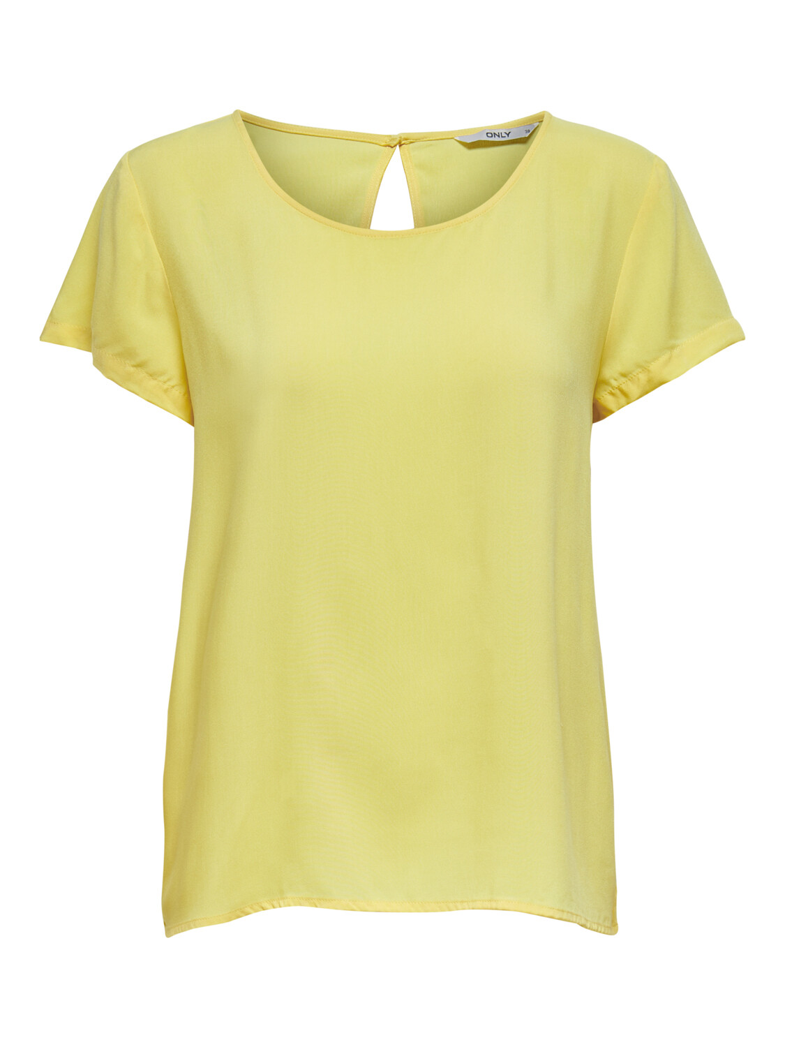 ONLFIRST ONE LIFE SS SOLID TOP WVN PINEAPPLE SLICE