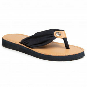TOMMY LEATHER FOOTBED BEACH SANDAL MONICA 14D3 DESERT SKY