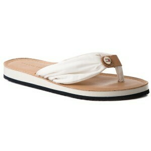 TOMMY LEATHER FOOTBED BEACH SANDAL MONICA 14D3 IVORY