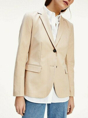 TOMMY SLUB COTTON SB BLAZER SAHARA TAN