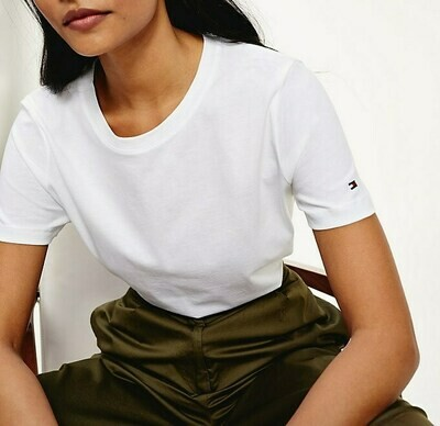 TOMMY TH COOL ESS RELAXED C-NK TEE SS WHITE