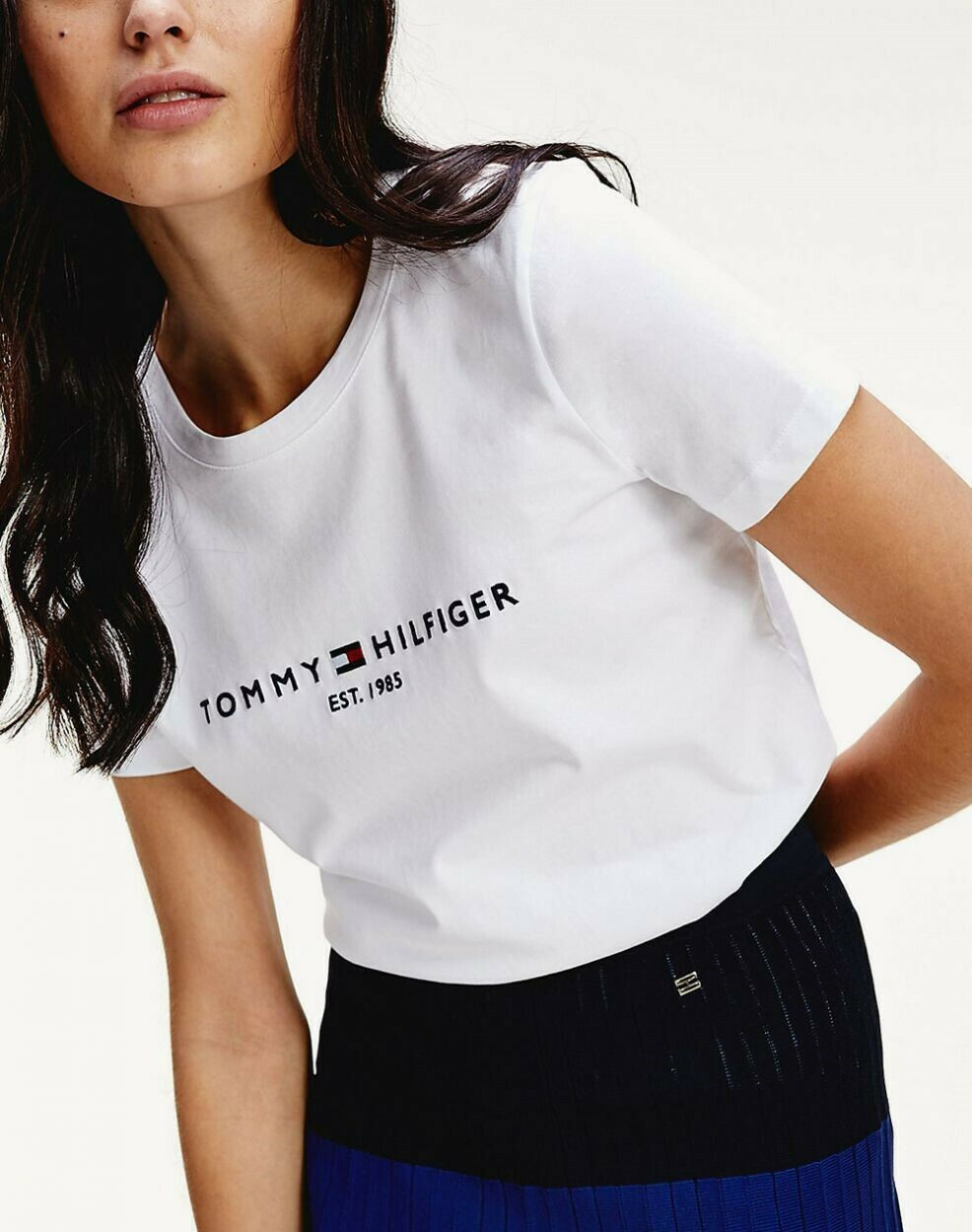 TOMMY NEW TH ESS HILFIGER C-NK TEE SS WHITE