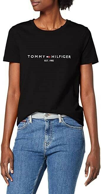 TOMMY NEW TH ESS HILFIGER C-NK TEE SS BLACK