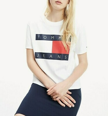TOMMY TJW TOMMY FLAG TEE CLASSIC WHITE