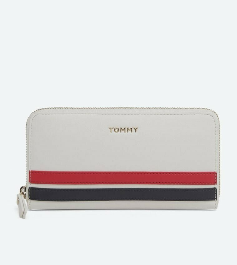 TOMMY TOMMY STAPLE LRG ZA WALLET Bright White