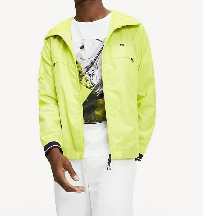 TOMMY LIGHT WEIGHT HOODED JACKET Lemon Lime