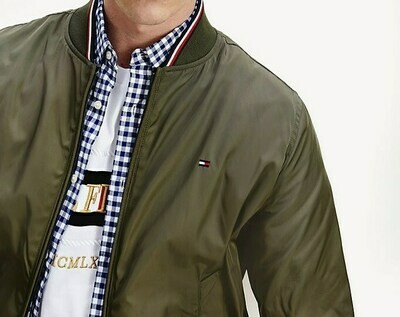 TOMMY REVERSIBLE BOMBER Army Green