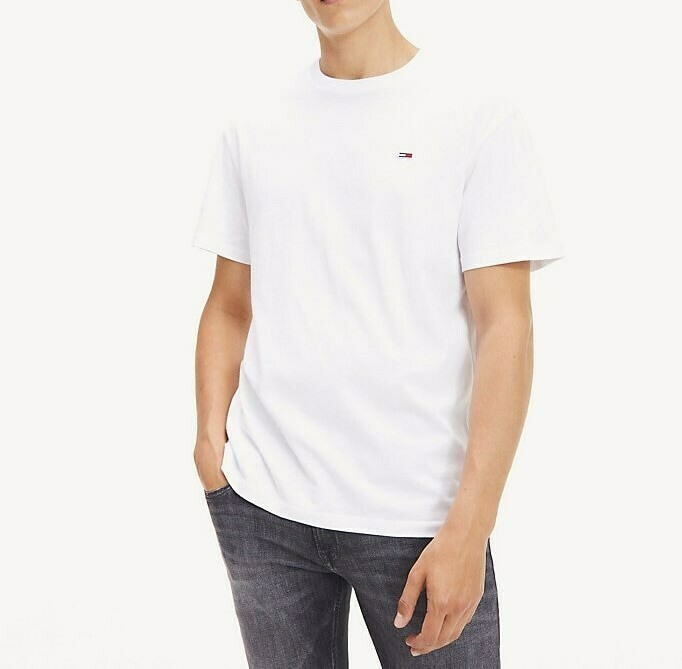TOMMY TJM TOMMY CLASSICS TEE CLASSIC WHITE