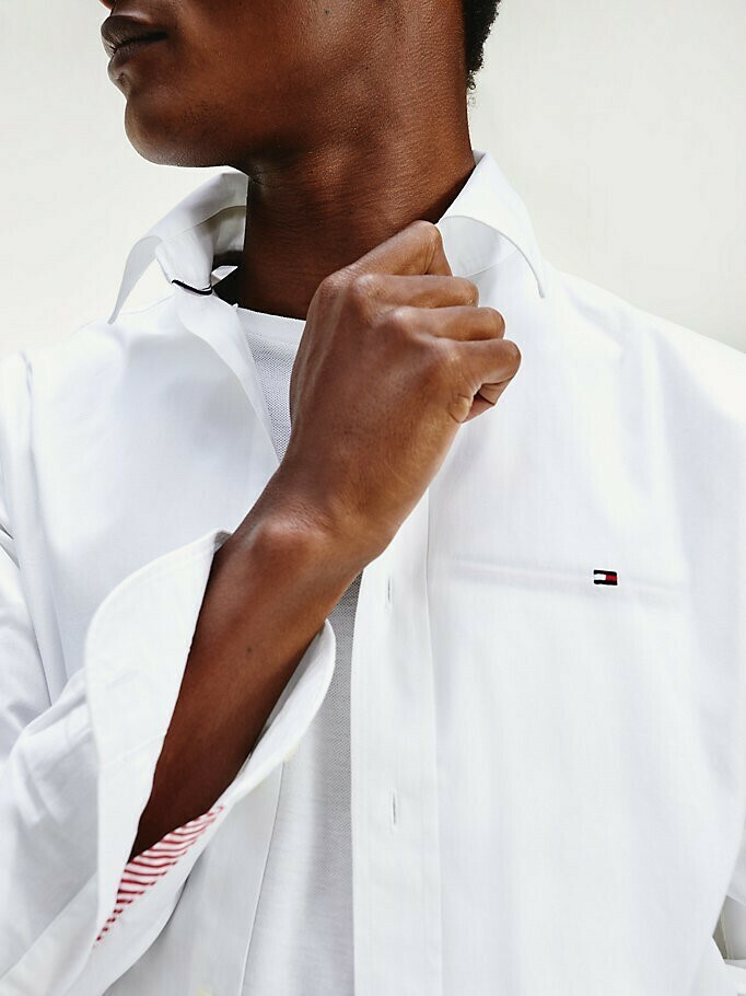 TOMMY NATURAL SOFT END ON END SHIRT White