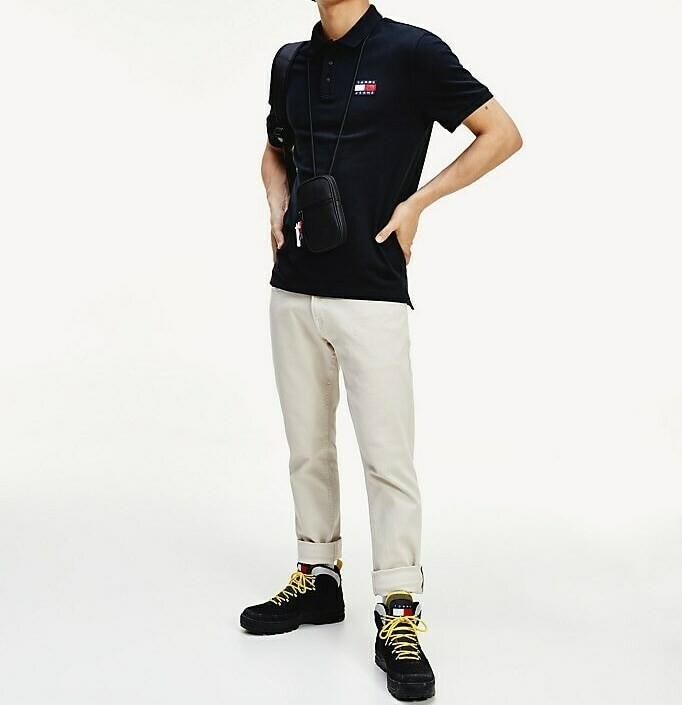 TOMMY TJM TOMMY BADGE POLO TOMMY BLACK