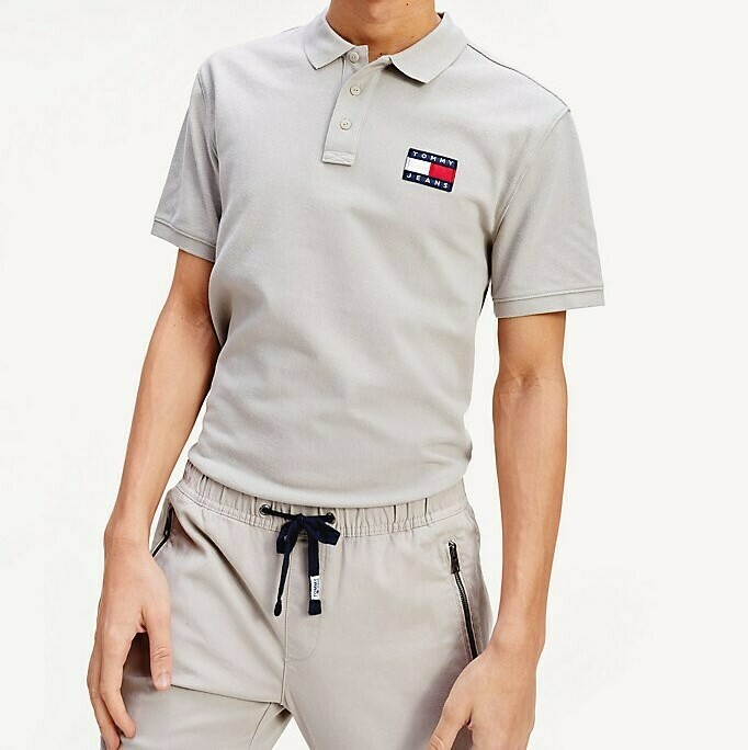 TOMMY TJM TOMMY BADGE POLO STONE