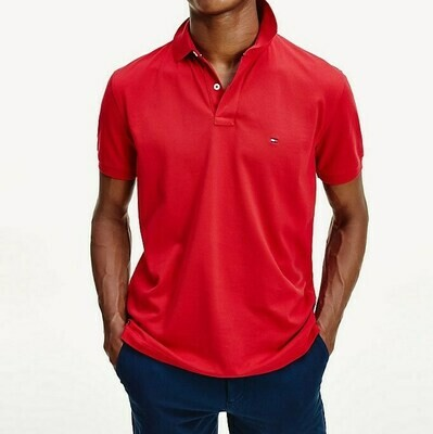 TOMMY REGULAR POLO PRIMARY RED