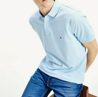 TOMMY REGULAR POLO Chambray Blue