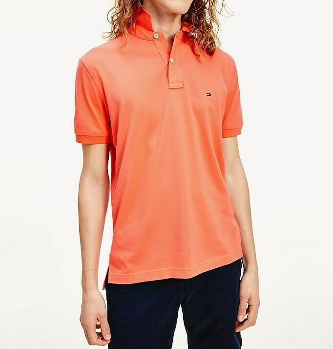 TOMMY REGULAR POLO WASHED VERMILLION