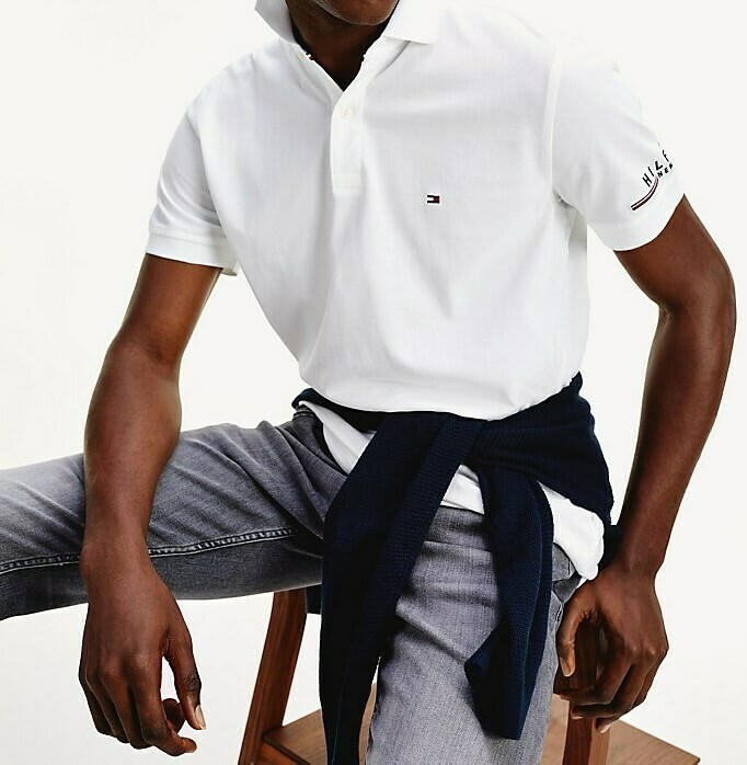 TOMMY LOGO REGULAR POLO WHITE