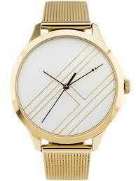 TH GOLD-PLATED MESH STRAP WATCH