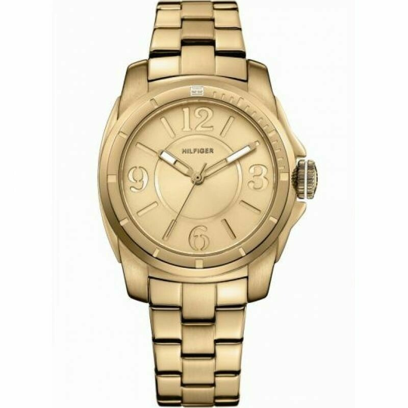 TH KELSEY GOLD DIAL GOLD PLATED STEEL WATCH
