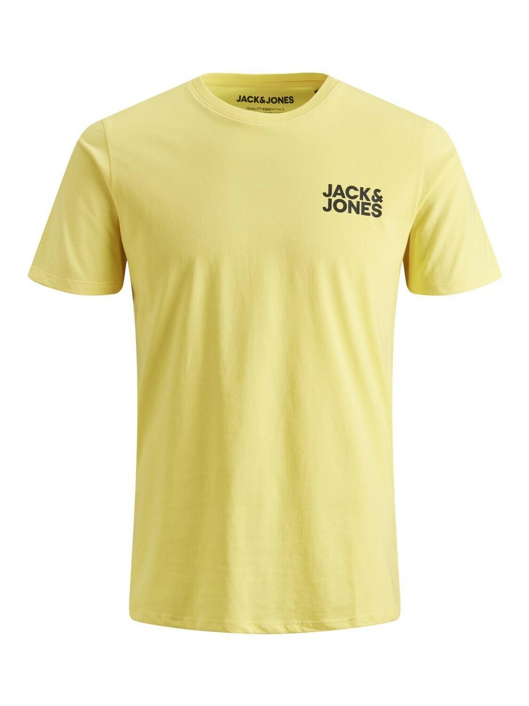 JACK&JONES JJECORP LOGO TEE SS O-NECK SMALL PRINT YELLOW/LEMON DROP