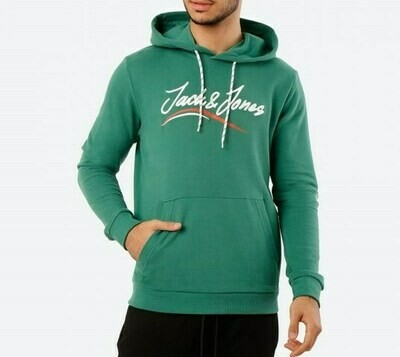JACK&JONES JORFLEXX SWEAT HOOD GREEN/FIR