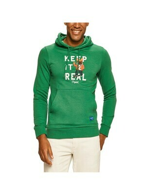 JACK&JONES JORFRENCHIE SWEAT HOOD GREEN/FIR