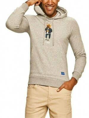 JACK&JONES JORFRENCHIE SWEAT HOOD LIGHT GREY MELANGE