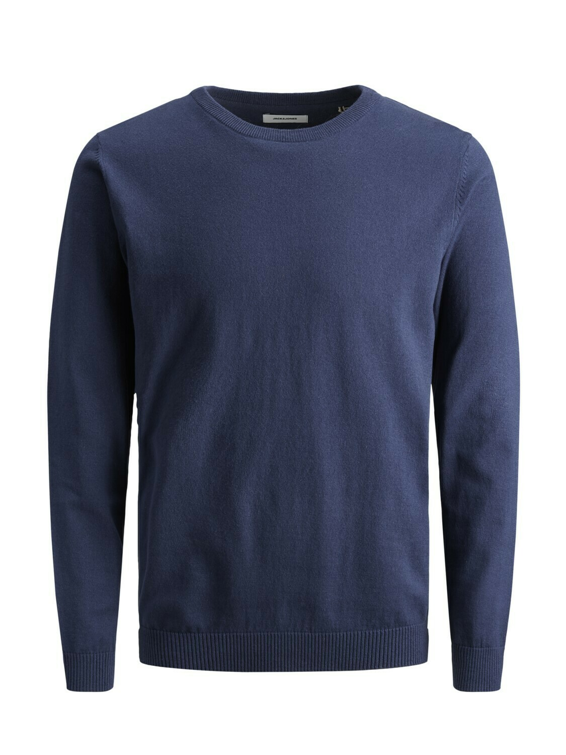 JACK&JONES JJEBASIC KNIT CREW NECK PLUS SIZE BLUE DENIM