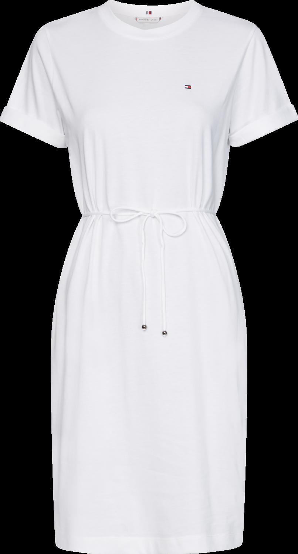 TOMMY ANGELA REGULAR C-NK DRESS SS WHITE