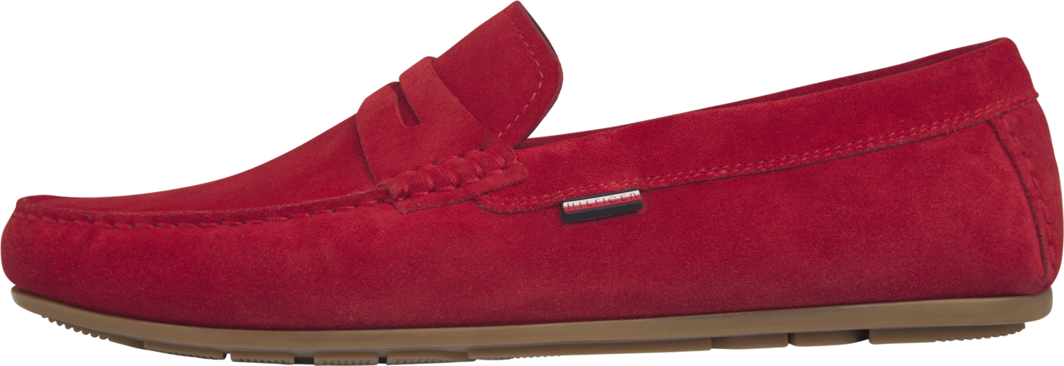 TOMMY CLASSIC SUEDE PENNY LOAFER Primary Red