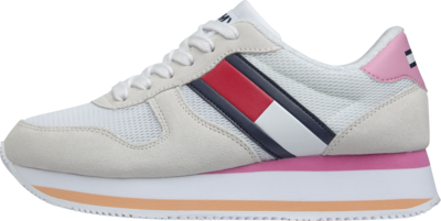 TOMMY FLATFORM RUNNER COLOUR SNEAKER WHITE