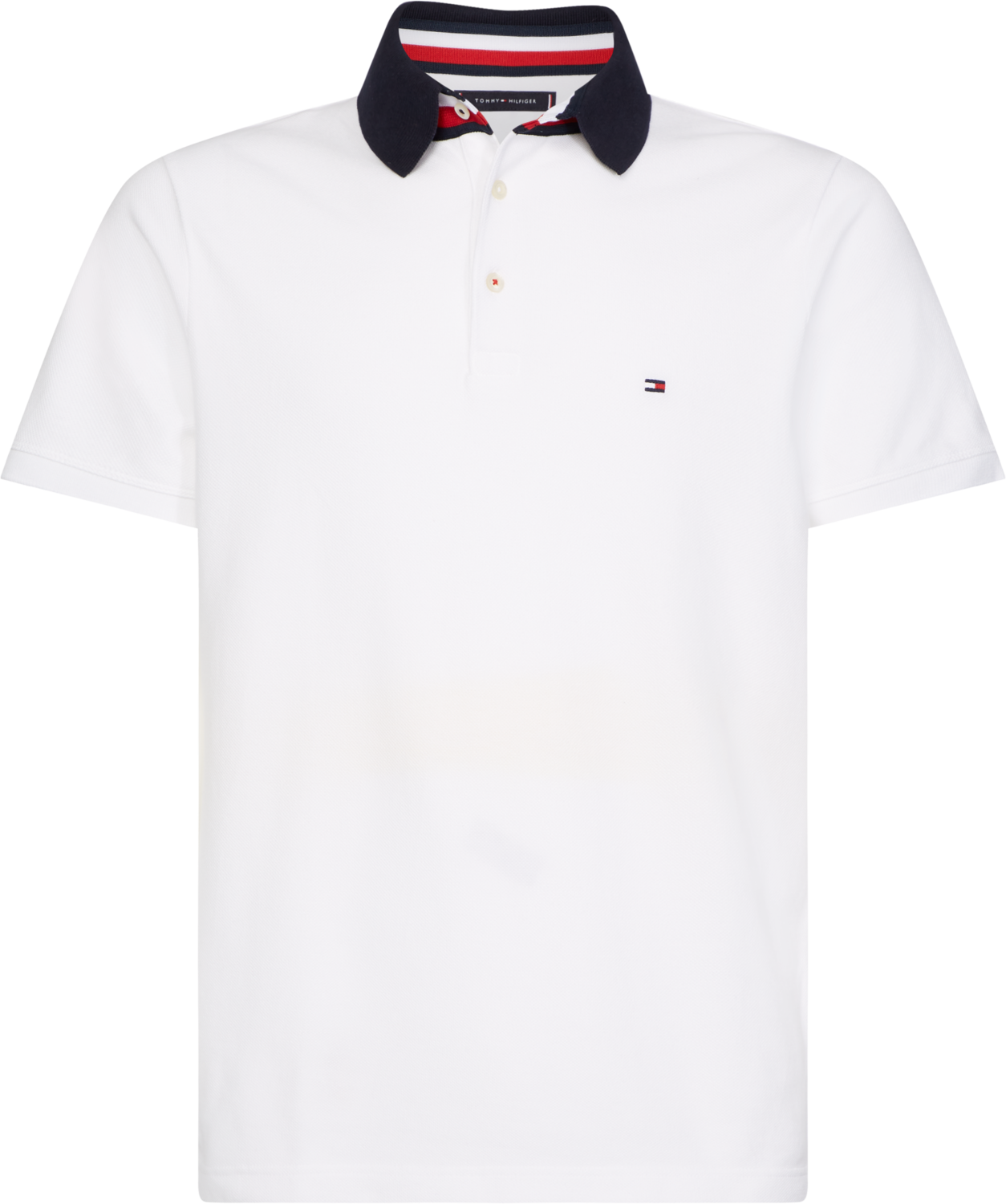 TOMMY GS COLLARSTAND SLIM POLO WHITE