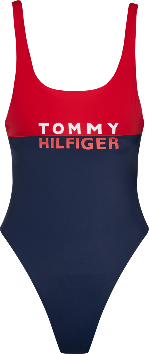 TOMMY HILFIGER COLOUR-BLOCKED ONE-PIECE SWIMSUIT