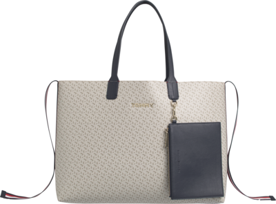 TOMMY HILFIGER ICONS MONOGRAM TOTE