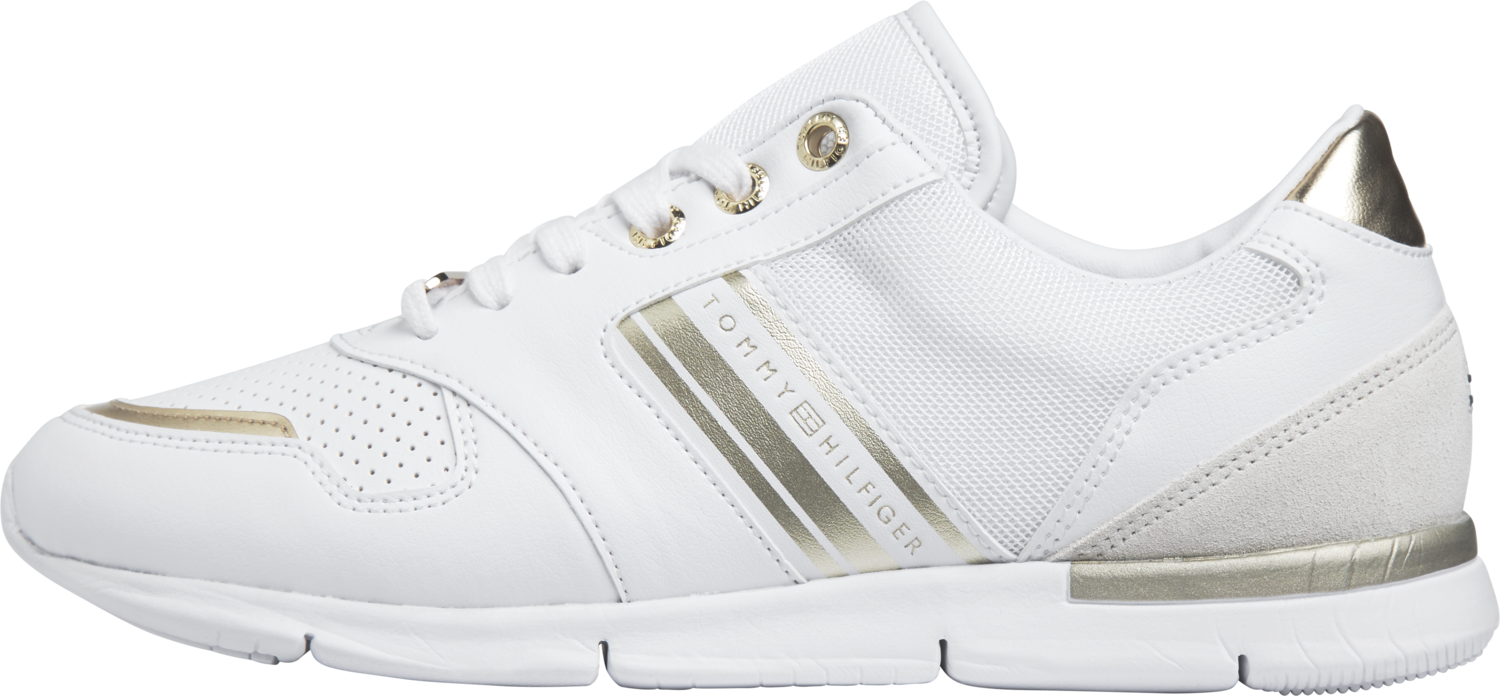 TOMMY HILFIGER  SHOES  LIGHTWEIGHT  METTALLIC TRAINERS