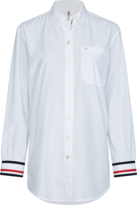 TOMMY ICON BOYFRIEND SHIRT LS WHITE