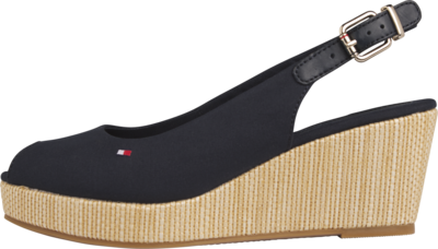 TOMMY ICONIC ELBA SLING BACK WEDGE DESERT SKY