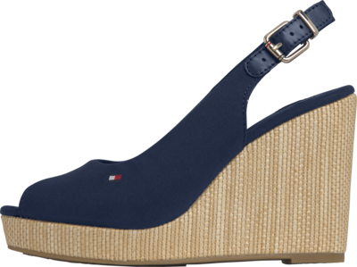 TOMMY ICONIC ELENA SLING BACK WEDGE DESERT SKY