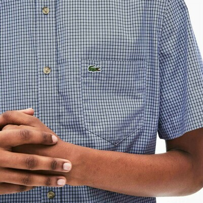 LACOSTE CHEMISE CASUAL MANCHES CO DARK BLUE